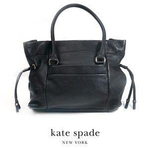 KATE  SPADE Vintage Shoulder Bag Black Leather Tote